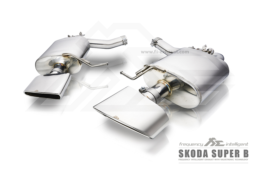 skoda - super-b Fi-exhaust